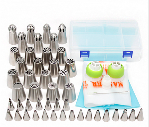 46pcs Stainless Steel Cake Decorating Nozzles