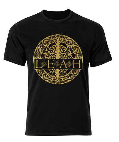 LEAH - Gold Celtic Emblem Shirt