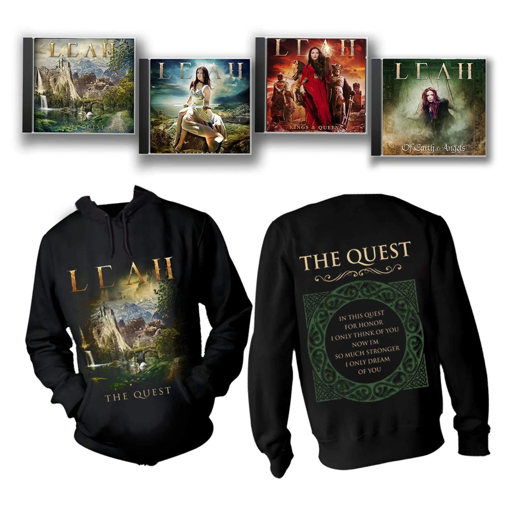 Celtic Metal CD Quartet + Pullover Hoodie Bundle