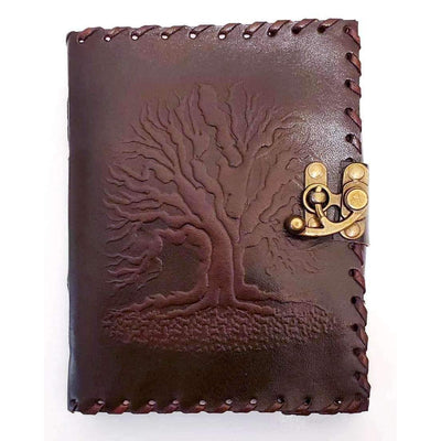 Dark Crimson Yggdrasil Handpainted Journal