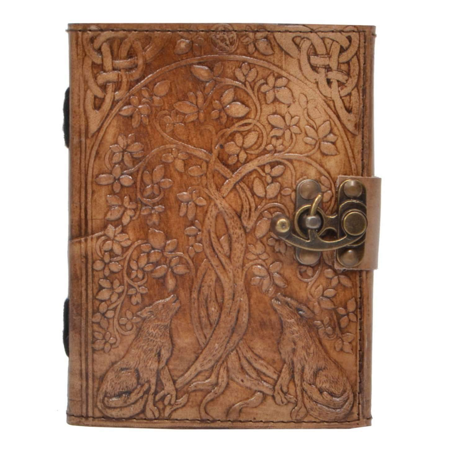 Enchanting Wolves Hand Carved Journal