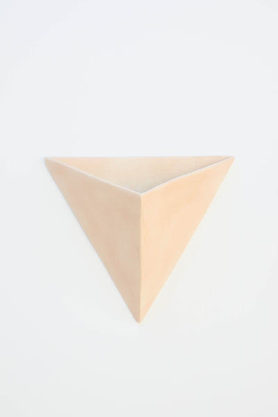 AIRBRUSHED PINK TRIANGLE WALL PLANTER