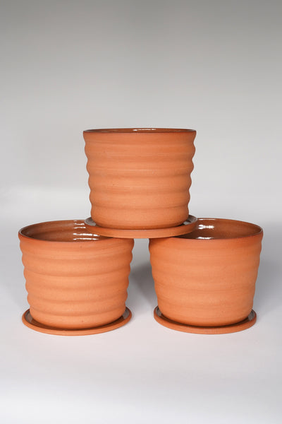 GROOVY TERRACOTTA POT