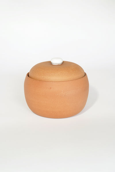 TERRACOTTA LIDDED VESSEL