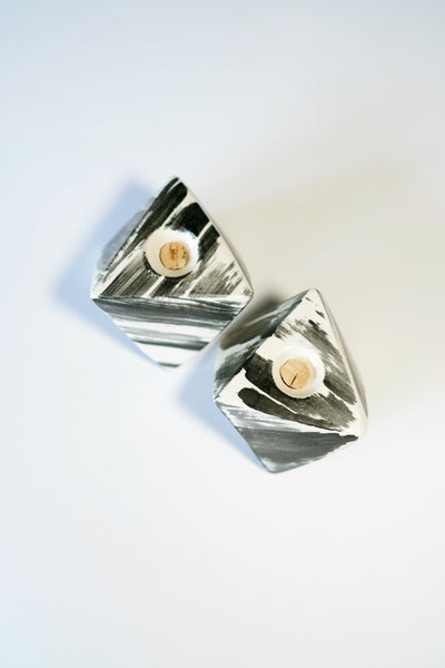 BRUSHSTROKE SALT & PEPPER SHAKERS