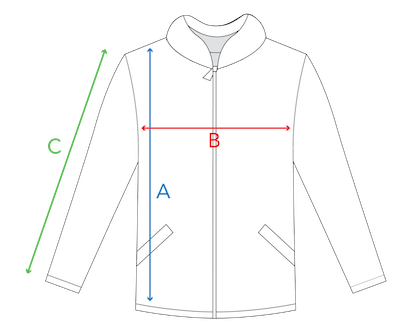 Measrue for Zip-Up Hoodie