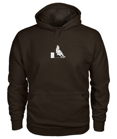 Dark Chocolate Barrel Racing Grandma Loading Pouch Pocket Hoodie