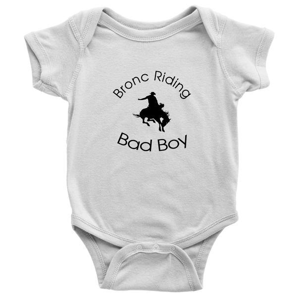 Bronc Riding Bad Boy - White