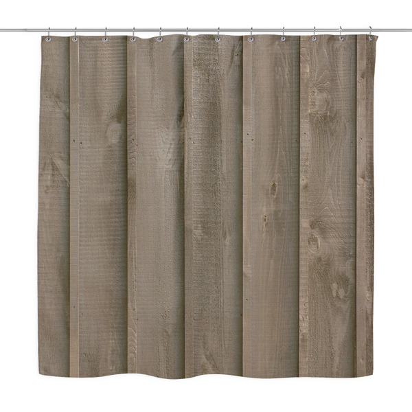 Rustic Barn Boards - Shower Curtains Weathered Brown