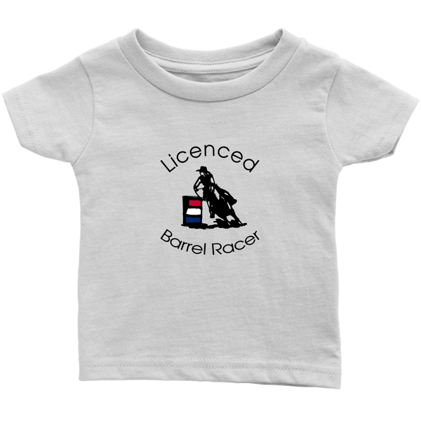 Licenced Barrel Racer Infant T-Shirt - White