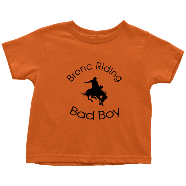 Bronc Riding Bad Boy Toddler T-Shirt - Orange