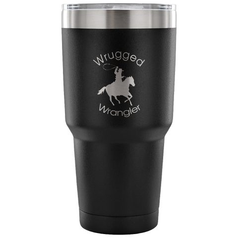 Wrugged Wrangler Vacuum Tumbler in Black