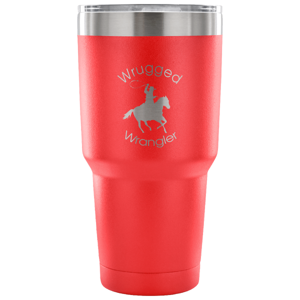 Wrugged Wrangler Stainless Vacuum Tumbler in Red