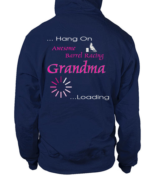 Zip-Up Hoodie for Rodeo Granny in navy - back side
