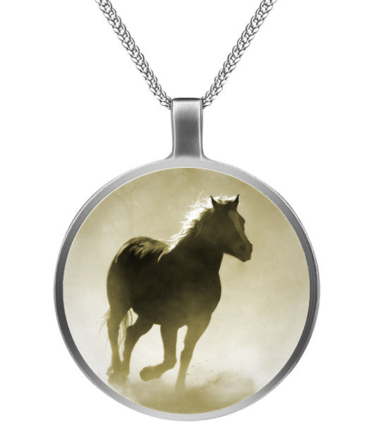 Horse Galloping 1 - Pendant Necklace