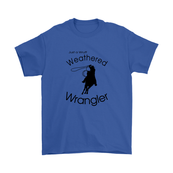 Weathered Wrangler Men's T-Shirt - Royal Blue