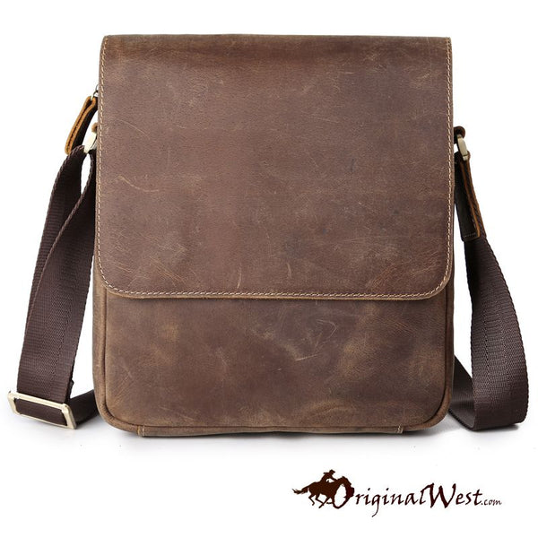 Genuine Leather Men's Over the Shoulder Bag