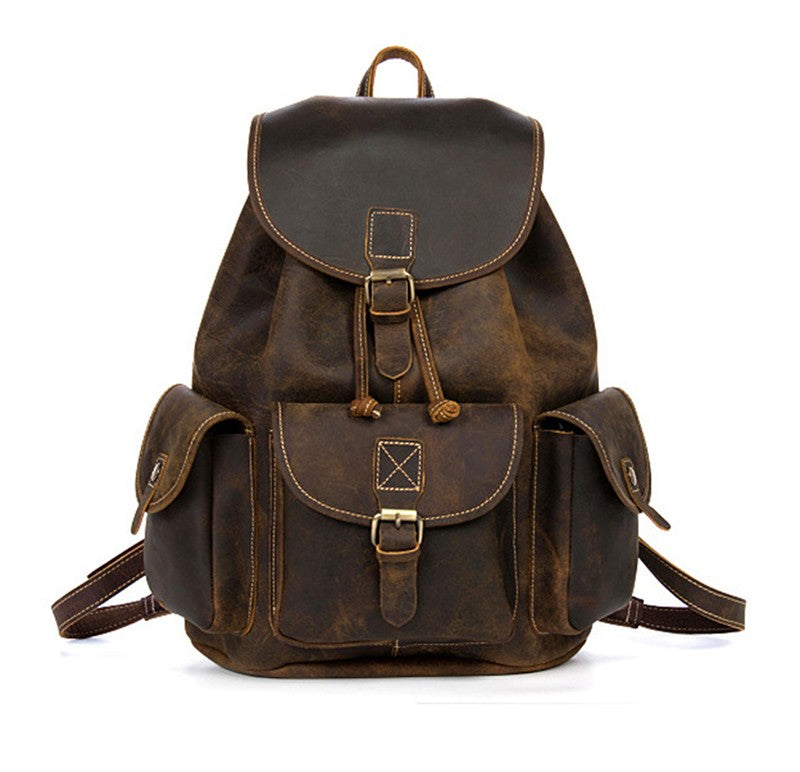 Genuine Leather Rugged Rucksack