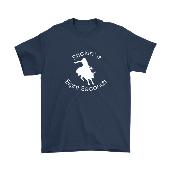 Stickin' it Eight Seconds Mens T-Shirt - Navy