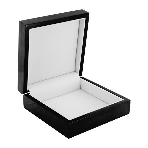 Scarlett Poppy Wood Jewelry Box - Black Wooden box lined with felt