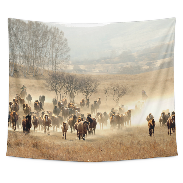 Herd of Wild Horses - Tapestry