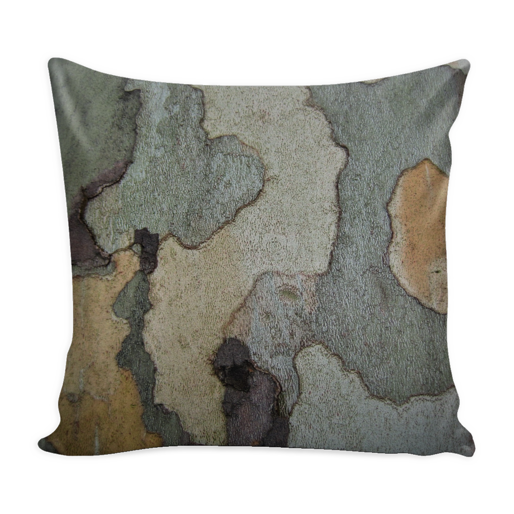 Layered Blue Green Bark - Pillow Cover  16x16