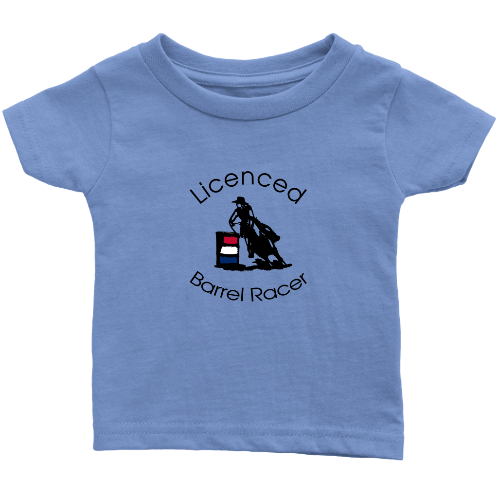 Licenced Barrel Racer Infant T-Shirt - Light Blue