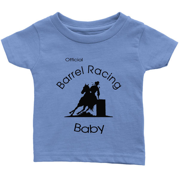 Official Barrel Racing Baby Infant T-Shirt - Light Blue