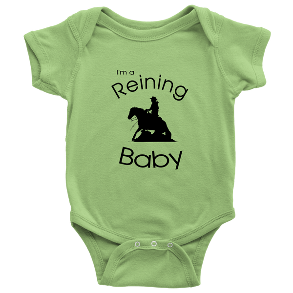 I'm A Reining Baby - Bodysuit - Key Lime Green