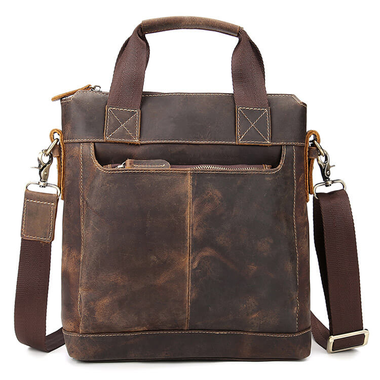 Vintage Genuine Leather Men's Satchel, Shoulder Bag