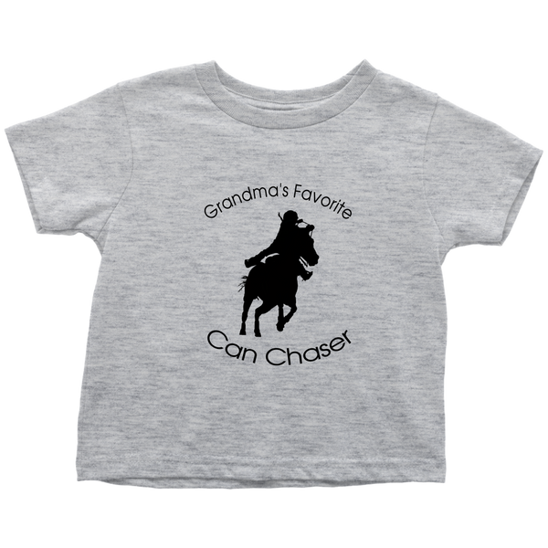 Grandma's Favorite Can Chaser Toddler T-Shirt - Heather Grey