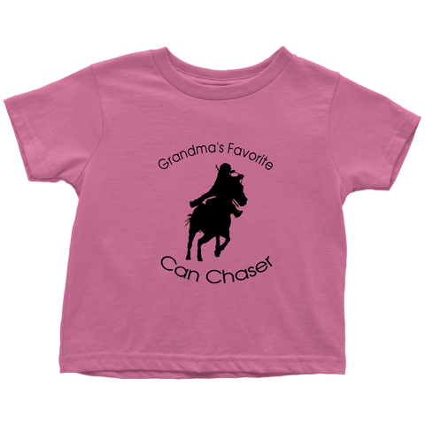 Grandma's Favorite Can Chaser Toddler T-Shirt - pink