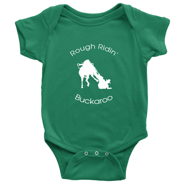 Rough Ridin' Buckaroo Baby Bodysuit - Green
