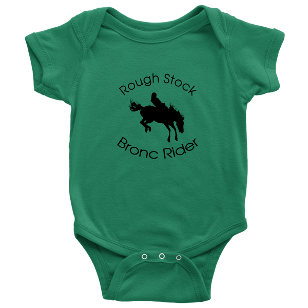 Rough Stock Bronc Rider Baby Bodysuit -  Dark Green