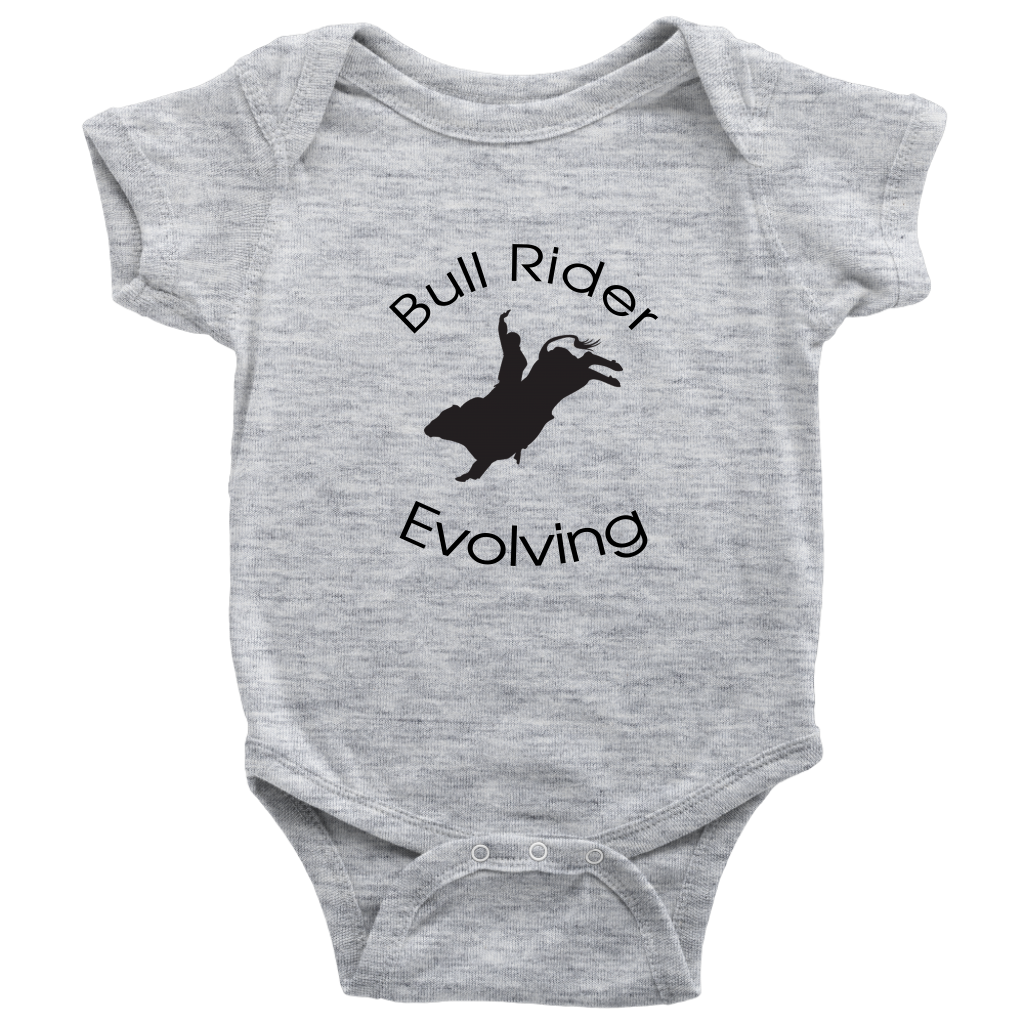 Bull Rider Evolving Baby Bodysuit - Heather Gray