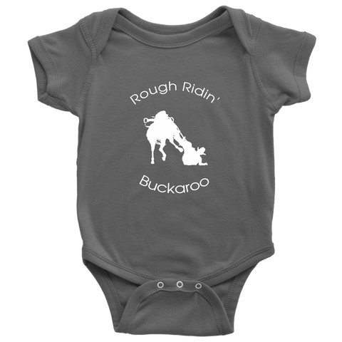 Rough Ridin' Buckaroo Baby Bodysuit - Gray