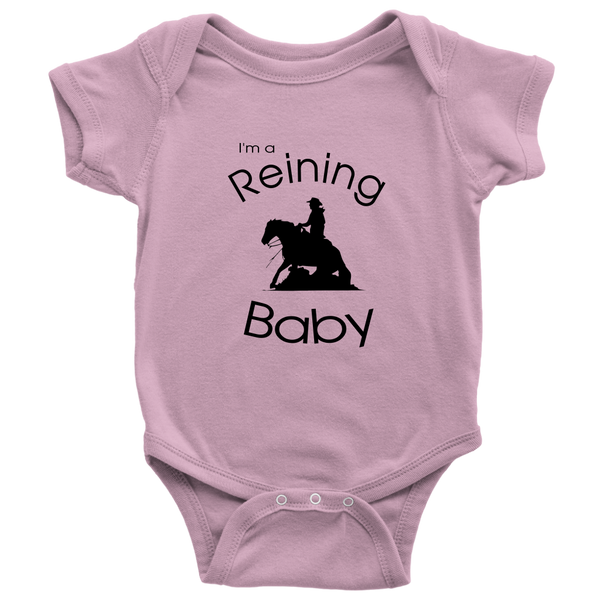 I'm A Reining Baby - Bodysuit - Pink