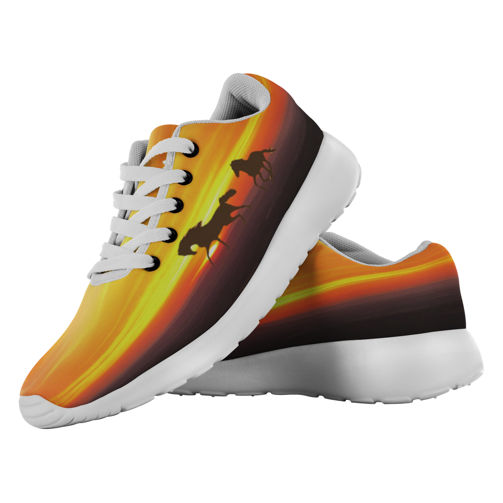 Best Printed Shoes.  Gallop at Sunset Running Shoes - Best Price