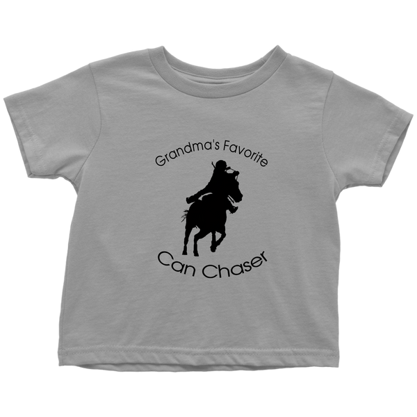 Grandma's Favorite Can Chaser Toddler T-Shirt - slate grey