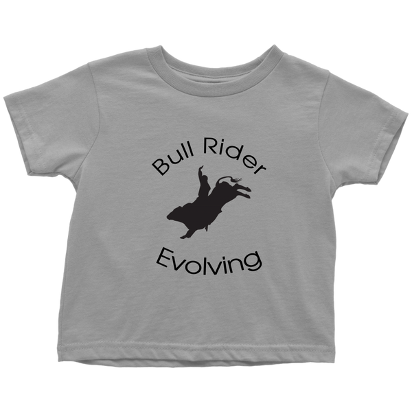 Bull Rider Evolving Toddler T-Shirt - Slate Gray