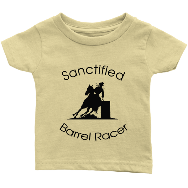 Sanctified Barrel Racer Infant T-Shirt - Lemon