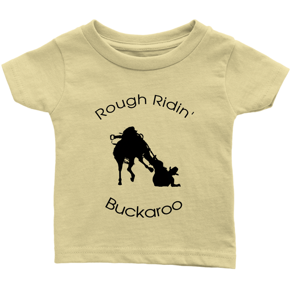 Rough Ridin Buckaroo Infant T-Shirt - Lemon