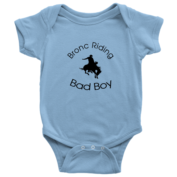 Bronc Riding Bad Boy - Light Blue