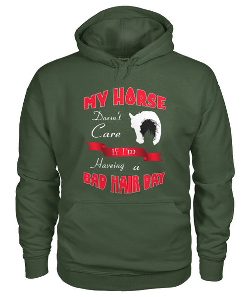 Bad Hair Day Hoodie for Cowgirls | Horse Lover Pullover for Women