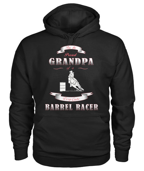 Proud Grandpa Of Cute Barrel Racer - Hoodie