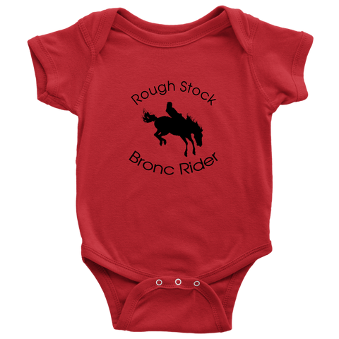 Rough Stock Bronc Rider Baby Bodysuit - Red