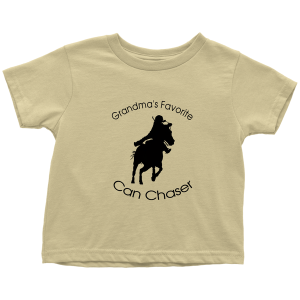 Grandma's Favorite Can Chaser Toddler T-Shirt - Lemon