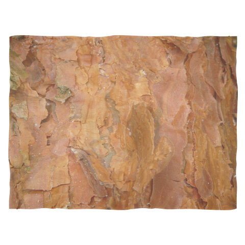 "Deep Rust Tree Bark - Fleece Blankets Small Throw: 40""x30"""