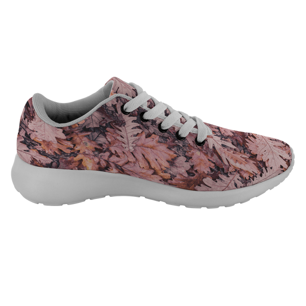 Right Shoe Printed with Gorgeous Colored Deep Oak Leaves