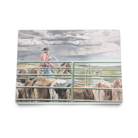 Greeting Cards for Horse Lovers, Western Roping Art Cards